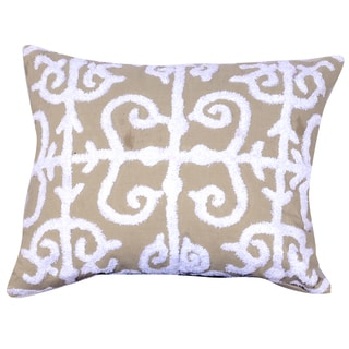 16-inch x 20-inch Embroidered Throw Pillow