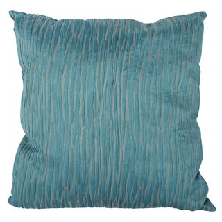 Blue/Green Polyester 22-inch x 22-inch Throw Pillow