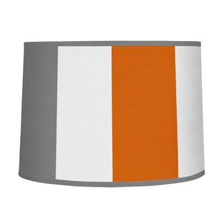 Sweet Jojo Designs Grey and Orange Fabric Stripe Collection Large Lamp Shade