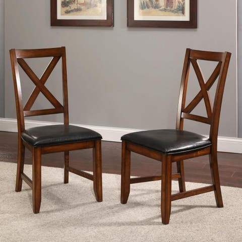 Abbyson Braxton Farmhouse Dining Chairs (Set of 2)