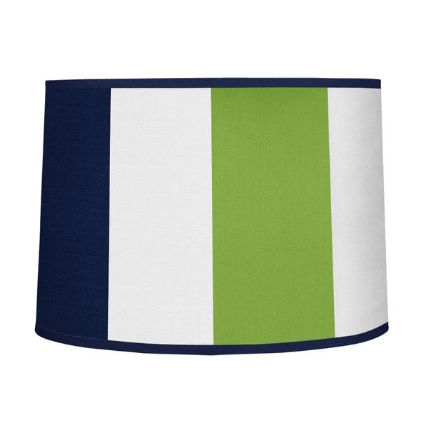 Large Blue Lamp Shade: Shop Sweet Jojo Designs Navy Blue/Lime Green Stripe Large