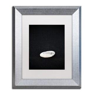 Philippe Sainte-Laudy 'Pebbles on Black Sand' Matted Framed Art