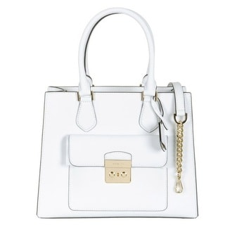 MICHAEL Michael Kors Bridgette Medium East West Tote Optic White