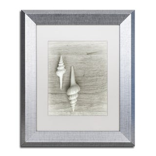 Cora Niele 'Two White Shells' Matted Framed Art