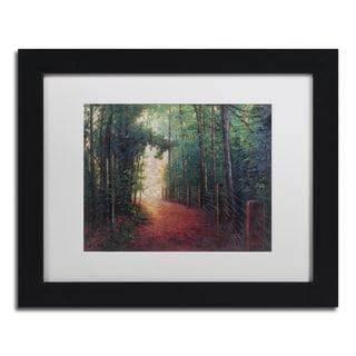 Daniel Moises 'Misty Trail' Matted Framed Art