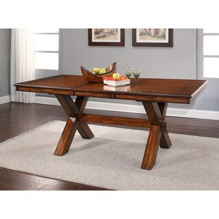 Abbyson Braxton Farmhouse Dining Table - Brown