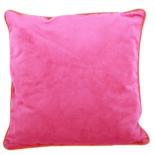 Pink Polyester 20-inches x 20-inches Throw Pillow