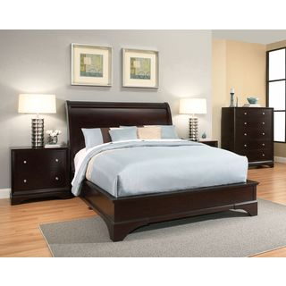 Abbyson Sydney 4-piece Espresso Wood Bedroom Set
