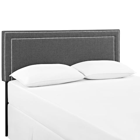 Jessamine Queen-size Upholstered Headboard in Gray