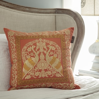 Bombay Crane Sari 20-inch Square Throw Pillow