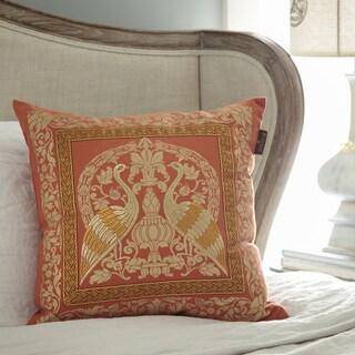Bombay Crane Sari 20-inch Square Throw Pillow
