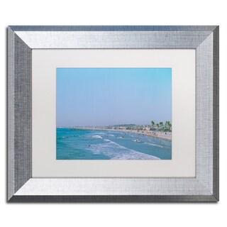 Ariane Moshayedi 'Newport Beach Summer Day' Matted Framed Art