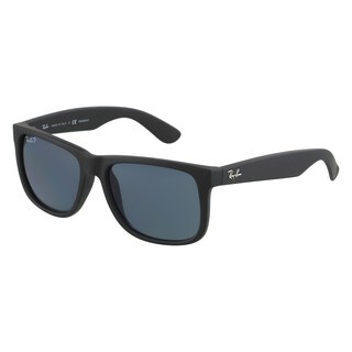 Ray-Ban RB4165 622/2V Justin Classic Black Frame Polarized Blue 55mm Lens Sunglasses