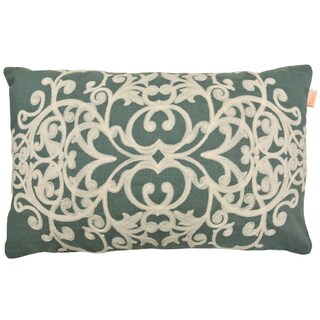 Cordova Polyester 14-inch x 20-inch Decorative Embroidered Pillow