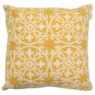 Licia Polyester 18-inch Decorative Embroidered Pillow