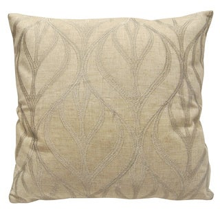 Gold/Silver Polyester Leaf-decorated Square Throw Pillow Cover