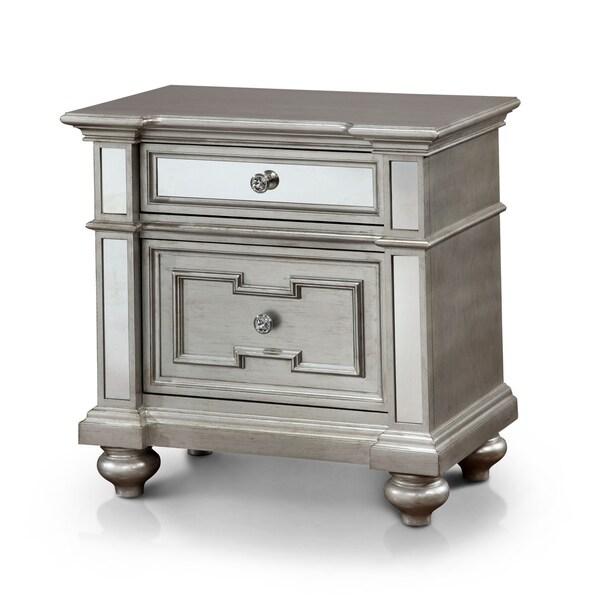 Furniture Of America Marisalla Contemporary Silver Glam