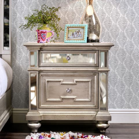 Marisalla Contemporary Champagne 2-drawer Nightstand by FOA