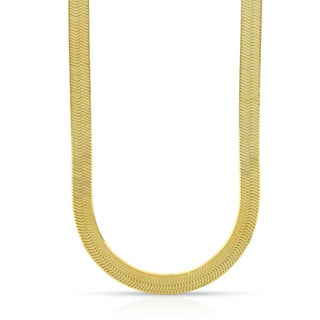 10k Yellow Gold 5mm Herringbone Chain Necklace