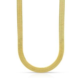 10k Yellow Gold 5mm Herringbone Chain Necklace
