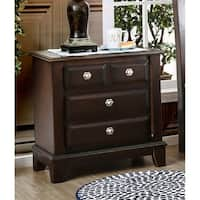 Furniture of America Hazelo Contemporary Brown Cherry 3-drawer Nightstand