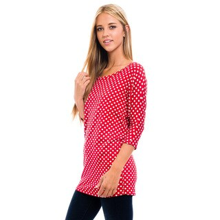Women's Red Polka Dot Shirt