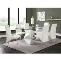 Coaster Company White Geometric Glass Dining Table