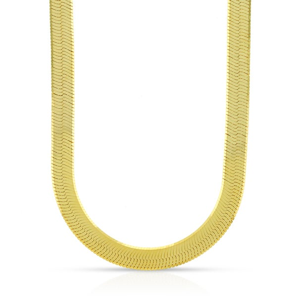 16 Inch Gold Herringbone Necklace: Shop 10k Yellow Gold 6mm Imperial Herringbone Chain