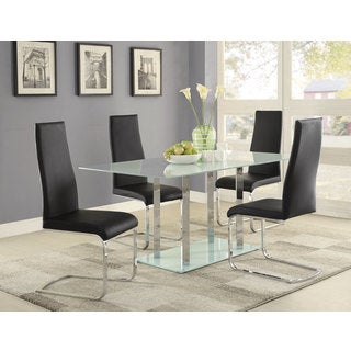 Coaster Company Geneva Frosted Glass Dining Table