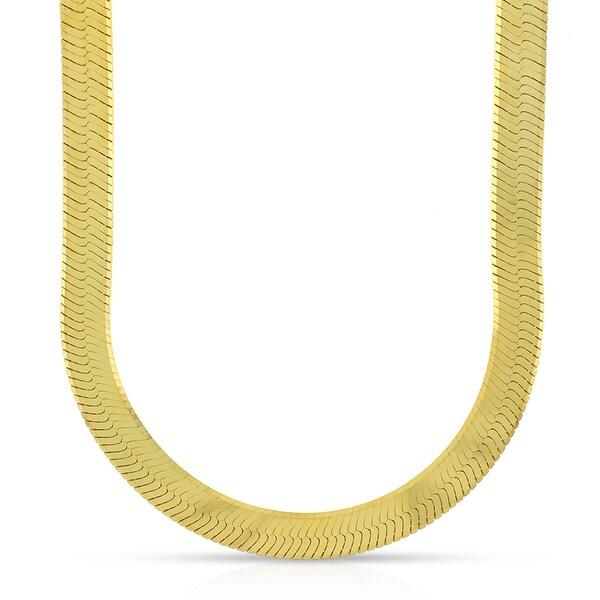 16 Inch Gold Herringbone Necklace: Shop 10k Yellow Gold 6.5mm Imperial Herringbone Chain