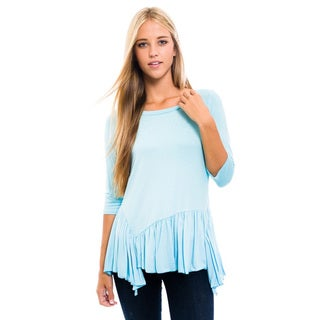 Women's Blue Tunic 3/4-sleeve Shirt