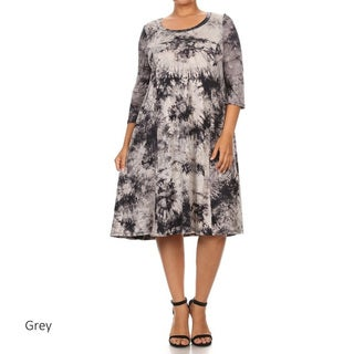 Women's Tie-dye Plus-size Dress