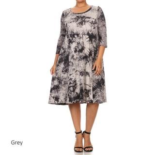 Women's Tie-dye Plus-size Dress