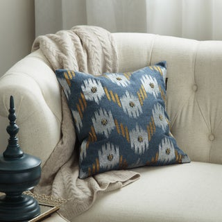 Bombay Outlet 18-inch Square Ikat Chevron Throw Pillow