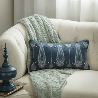 Bombay Outlet Paisley Dew Lumbar Throw Pillow