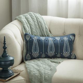 Bombay Outlet Paisley Dew Lumbar Throw Pillow