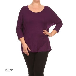 Plus Size Women's Solid Shirt