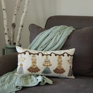 Bombay Outlet India Tassels Lumbar Throw Pillow
