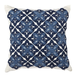 Multicolor 18-inch Square Embroidered Throw Pillow