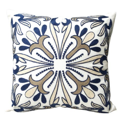 A&B Home Multicolored Embroidered Accent Throw Pillow