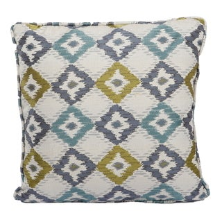 Jacquard Woven Polyester 18-inch Square Throw Pillow