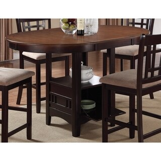 Coaster Company Espresso Counter Height Table with Storage - Brown