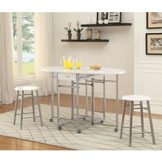 Coaster Company White Metal 3-piece Dining Set