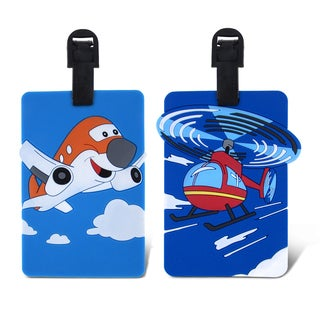 Puzzled Taggage. Airplane and Helicopter Luggage Tag Set