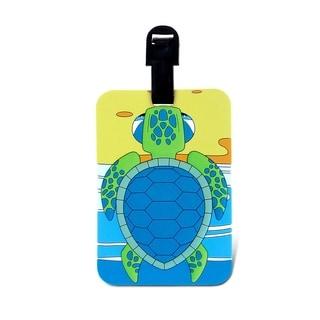 Puzzled Taggage Sea Turtle Multicolored Plastic Luggage Tag