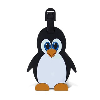 Puzzled Taggage Plastic Penguin Luggage Tag