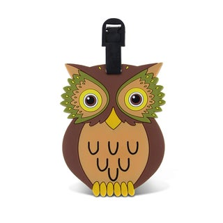 Puzzled Taggage Owl Plastic Luggage Tag