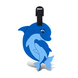 Puzzled Taggage Mama & Baby Dolphin Plastic Luggage Tag