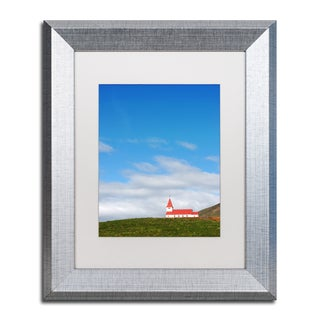 Philippe Sainte-Laudy 'Red Bell Tower' Matted Framed Art