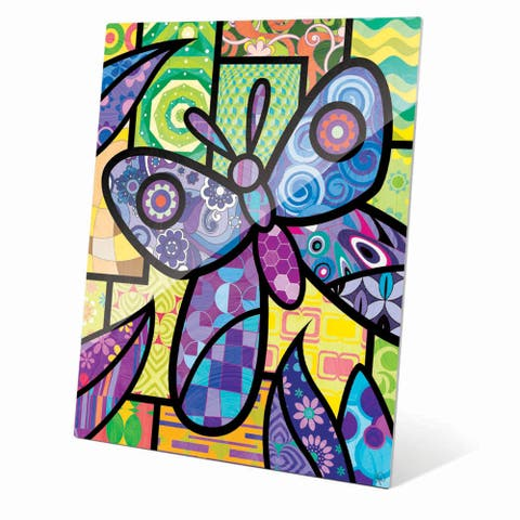 Quilted Butterfly' Purple Acrylic Wall Art